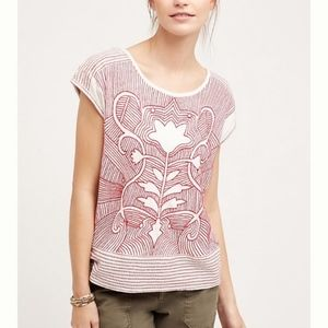 Anthropologie Embroidered Sienna Top by Akemi+Kin